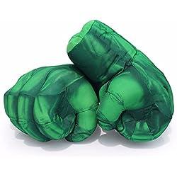 Guantes de Hulk,Manos de Hulk Smash Guantes de Boxeo Hulk Juguetes para niños Cumpleaños de Navidad Funny Halloween (1 par)