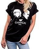MAKAYA Chemical Bros. Damenshirt große Größe Breaking Bad Kurzarm T-Shirt locker lässig S