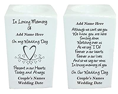 Personalised Wedding Day Remembrance Tealight Holder (Heart) by signautre gifts
