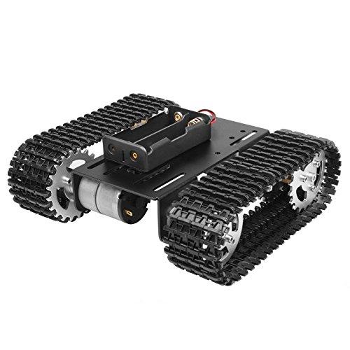 TSSS DIY Smart Roboter Model Car Kit mit 2 DC 12V Motoren für Arduino Raspberry - Utility Vehicle Intelligent Robotics für Kinder Anfänger Curriculum Design, 20 m / min Belastung 2kg (Roboter-diy)