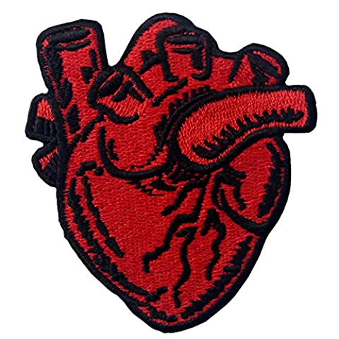 X-Ray Anatomical Heart Embroidered Iron On Sew