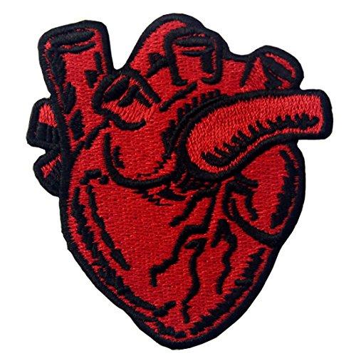 Röntgen-anatomisches Herz Gesticktes Eisen Auf Nähen Auf - Bereiten Sie Tasche Kostüm