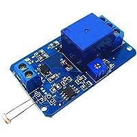 MagiDeal 12v Interruptor de Control de Luz Fotorresistor Módulo de Relé de Detección Arduino Herramientas