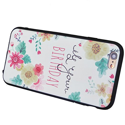 Yokata iPhone 6 / iPhone 6s Hülle Weich Silikon TPU Soft Case Handyhülle Schutzhülle Clear Backcover mit Fische Taiji Mode Muster Protective Cover + 1 x Kapazitive Feder Sonnenblume