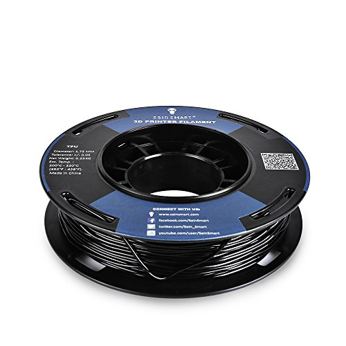 SainSmart 5 Packs Kleine Spule 1.75mm TPU Flexible 3D Filament 250g per Spool, Shore 95A, Weiß, Schwarz, Rot, Blau, Grün - 3