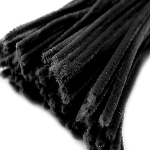 Draht, Pfeifenreiniger Ø 6 mm Länge 30cm CHENILLE, schwarz (20 Stück)