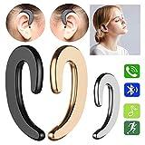 Jamisonme BoneTech Earphones 1PCS-Bluetooth Headphones Non Ear Plug Headphones Best Xmas Gifts DP (Gold)