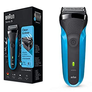 Braun Series 3 310s Wet and Dry Electric Shaver for Men/Rechargeable Electric Razor, Gifts for Men, Blue