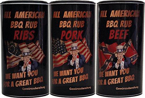 Rib-set (All American BBQ Rub - Set - Pork, Beef, Ribs)