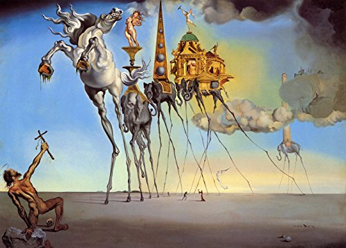 Get Custom Art Salvador Dali - The Temptation of St. Anthony 12x18 Canvas Print Rolled in a Tube (Flache Canvas Art Print)