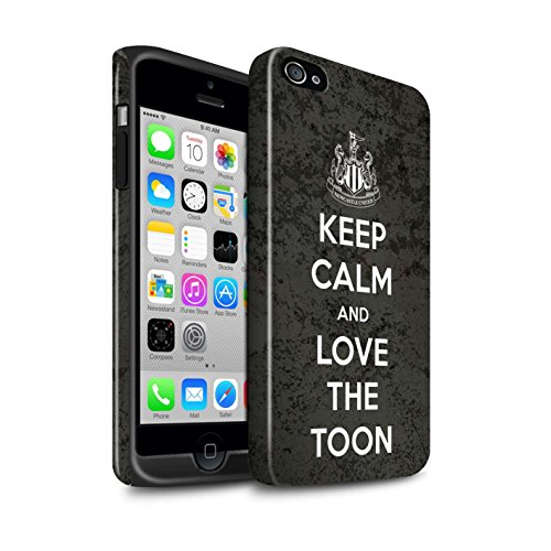 Officiel Newcastle United FC Coque / Brillant Robuste Antichoc Etui pour Apple iPhone 4/4S / Pack 7pcs Design / NUFC Keep Calm Collection Amour Toon