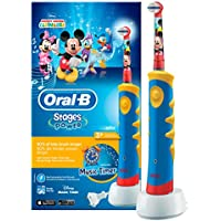 Oral-B Stages Power Kids Cepillo de dientes eléctrico, diseno Mickey Mouse