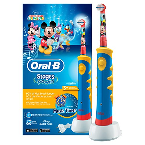 Oral-B Stages Power Kids - Cepillo eléctrico infantil recargable | Mickey Mouse