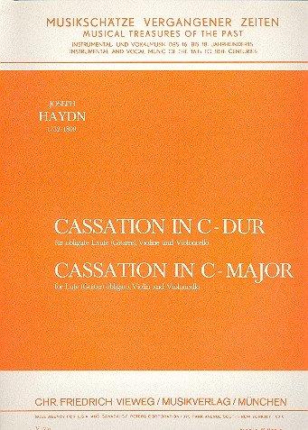 Cassation C-Dur: für obligate Laute (Gitarre), Violine und Cello