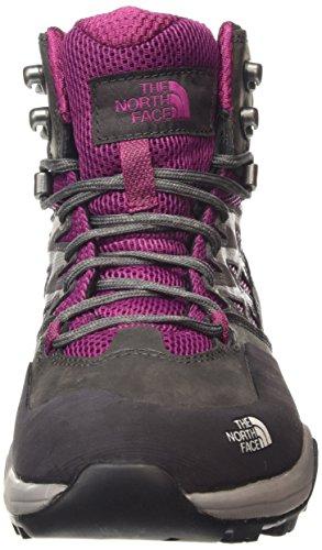 The North Face Hedgehog Hike Goretex Mid Damen Knöchelhohe Wanderschuhe Purple (Radiance Purple/Plum Kitten Grey Dwd)