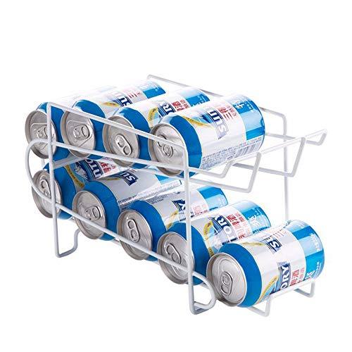 YZH Cola Storage Rack Küche Doppel-Layer Finishing Rack Kühlschrank Frischtrink-Bier Desktop-Desktop-Speicher Convenient große Kapazität Weiße Persönlichkeit -
