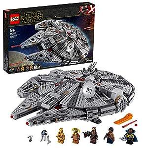 LEGO StarWars MillenniumFalcon, Set di Costruzioni dell'Iconica Astronave,conFinn,Chewbacca,LandoCalrissian,Boolio,C-3PO,R2-D2eD-O,Collezione: L'Ascesa di Skywalker, 75257 5702016668872 LEGO