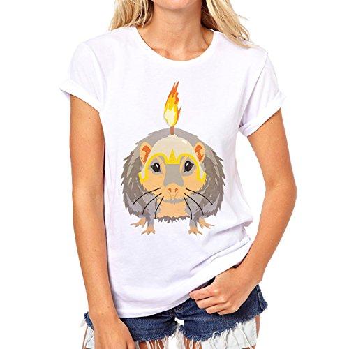 South Park Family Characters Cartoon Swag Burning Rat Damen T-Shirt Weiß