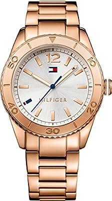 Tommy Hilfiger-Reloj de pulsera analógico para mujer cuarzo, revestimiento de acero inoxidable 1781567