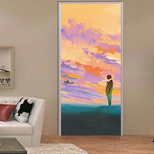 3d per porte decorazione parete - in attesa lover boy e distanza adesivo per porte adesivi 3d universali carta da parati diy impermeabile murale decal per soggiorno camera da letto