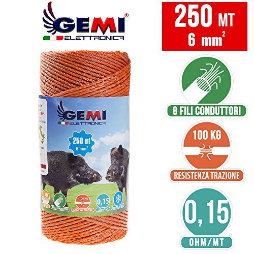 Weidezaun 250 m - 6 mm² - Gemi Elettronica - Elektrozaun für Wildschweine, Pferde und Großtiere