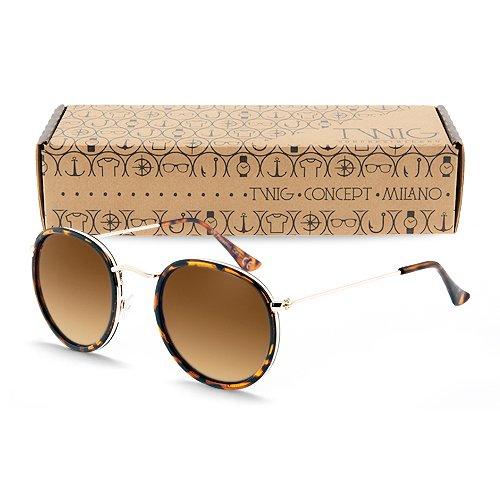 occhiali-da-sole-twig-rembrandt-uomo-donna-montatura-rotonda-uv-400-cat-3-sunglasses-tartaruga-marro