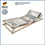 RAVENSBERGER MEDIMED® 44-Leisten 7-Zonen-BUCHE-Lattenrahmen | Verstellbar | Made IN Germany - 10 Jahre GARANTIE | TÜV/GS + Blauer Engel - Zertifiziert | 100 x 200 cm