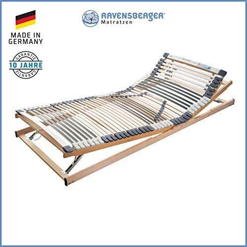 RAVENSBERGER MEDIMED® 44-Leisten 7-Zonen-BUCHE-Lattenrahmen | Verstellbar | Made IN Germany - 10 Jahre GARANTIE | TÜV/GS + Blauer Engel - Zertifiziert | 90 x 200 cm