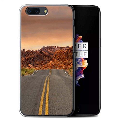Stuff4® Gel TPU Hülle/Case für OnePlus 5 / Straße/Autobahn Muster/Bundesstaat Nevada Kollektion