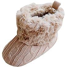 SODIAL (R) infantil del bebe del ganchillo   Tejer de lana Botas para nina de2ecafdb90