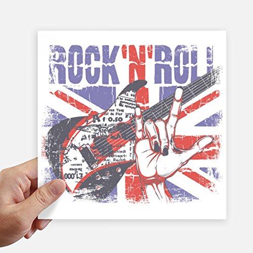 DIYthinker Rock Guitar England Großbritannien Country Flag Uk Stickers 20Cm Wand Koffer Laptop Motobike Aufkleber 4Pcs 20cm x 20cm Mehrfarbig Großbritannien-flags
