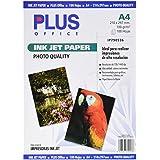Plus Office InkJet Paper Photo Quality - Papel fotográfico, 1440 dpi, paquete 100 hojas, A4