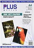 Plus Office Carta fotografica, per stampante a getto d'inchiostro, 1440dpi, confezione da 100fogli, formato A4