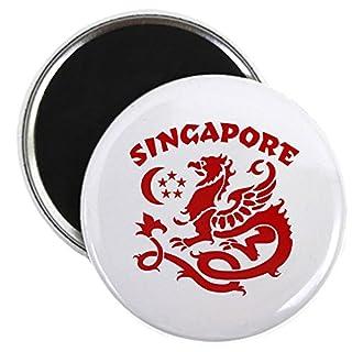 CafePress - Singapore Dragon - 2.25