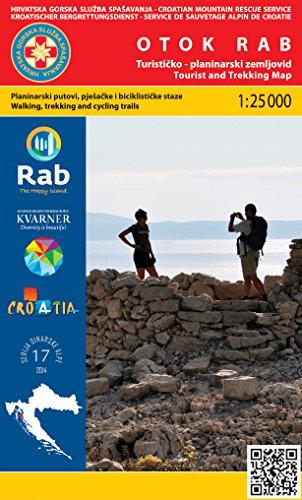Otok Rab 1:25.000 carte de randonnée (Croatie)