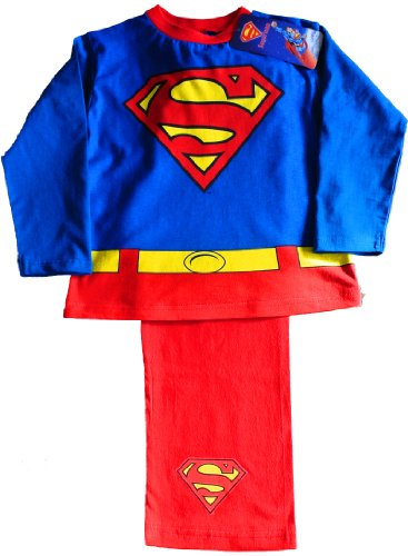 ThePyjamaFactory Cool Superman Fancy Dress Pyjamas 3 4 5 6 7 Years (4-5 - Kinder Royal Fancy Dress Kostüm