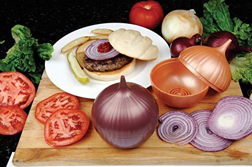 FACKELMANN Zwiebel-Tresor, Zwiebeltopf aus Kunststoff, Aufbewahrungsbox für Zwiebeln (Farbe: Braun), Menge: 1 Stück