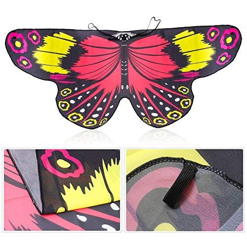 Maritown Kinder Schmetterlingsflügel, Fairy Butterfly Cape Wings Bunter Schmetterling Schal Pixie Cosplay Party Halloween Kostüme für Mädchen Jungen