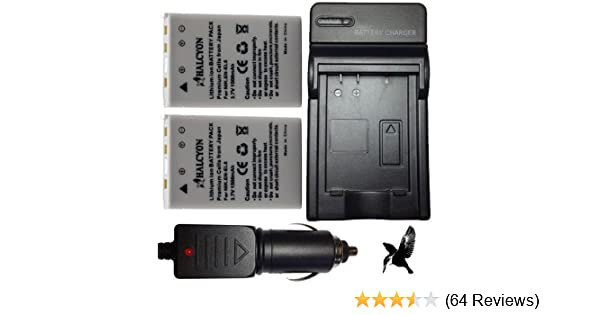 Four Halcyon 1500 mAH Lithium Ion Replacement Battery and Charger Kit for Nikon Coolpix P520 Digital Camera and Nikon EN-EL5