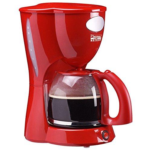 Bestron de café de cafetera eléctrica de colour rojo y ACM 801 Kaffeeau tomat