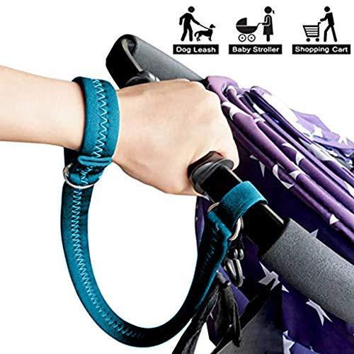 TianranRT★ Handschlaufe Für Kinderwagen, Sicherheitsgurt, Verstellbares Handgelenk, Doppeltes Doppelschicht-Design, Sicherheitsgurt Für Verlorene Gurte Für Kinderwagen, Blau