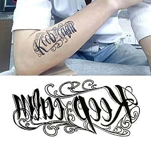 Oottati Mini Niedlich Temporäre Tattoo Englisch Wort Keep Calmset