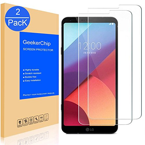 GeekerChip Verre trempé LG G6 Protecteur d'écran[2 Pièces], Protection Écran en Verre Trempé Films Vitre pour LG G6