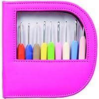 Knit Pro Waves - Juego de 9 agujas de ganchillo (funda rosa)