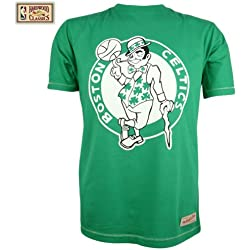 Mitchell & Ness Boston Celtics Tailored estándar Logo NBA - Camiseta, color - verde, tamaño XXL