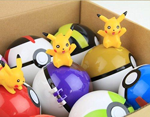 Image of 9PCS Pokemon Pokeball Pikachu Cosplay Pop-up Master Great Ultra GS Poke BALL Toy