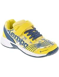 Kempa handball Chaussures junior Enfants Chaussures de sport pour le hall Pétrole/jaune