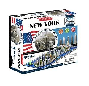 Eleven Force 40010 - Puzzle 4D Ciudades, diseño Nueva York (00502) - Puzzle New York 4D (840)