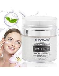 Crème de nuit d'acide hyaluronique, Crème hydratante anti-âge pour lifter le visage. Soin de nuit permettant d'obtenir une peau plus ferme et plus lisse, Crème anti-rides pour réparer la peau abîmée
