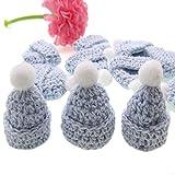 CUSHY Cappello del Crochet Miniatura 12pcs a Mano per Il Bambino Doccia Artigianali Battesimo Decorazioni del Partito 30 x 35mm